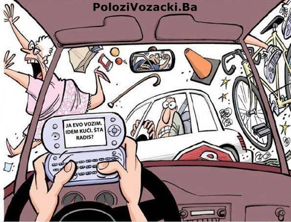 ne koristite mobilni u toku voznje