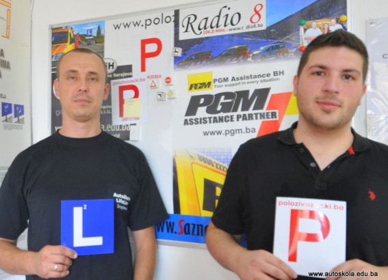 Čestitamo na uspješno položenom ispitu iz upravljanja m/v B kategorije Instruktor Vedad i novi vozač Benjamin H