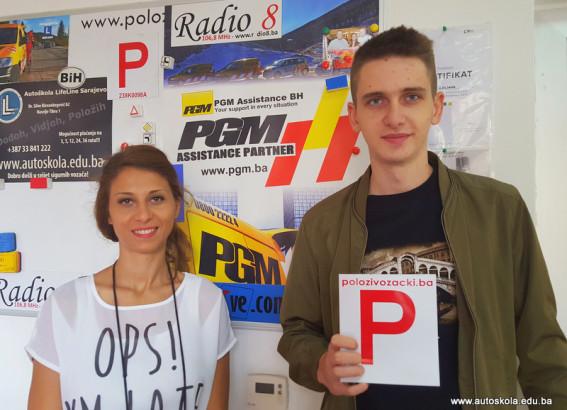 Čestitamo na uspješno položenom ispitu iz upravljanja m/v B kategorije Nas PR Manager Ljiljana i novi vozač Faris H