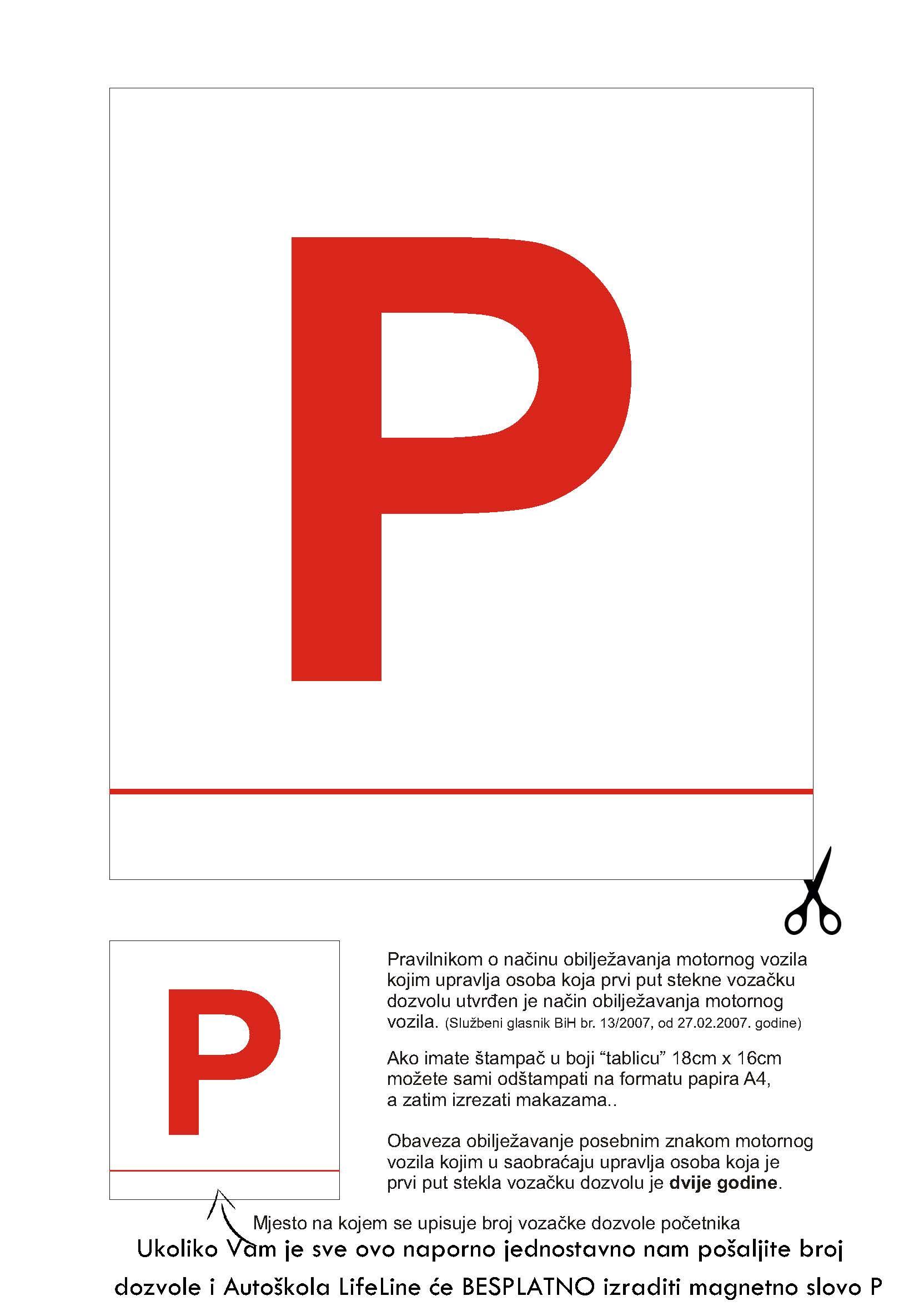 P_tablica -magnetno p