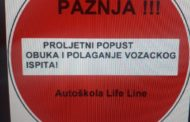 PROLJETNI POPUST U AUTOŠKOLI LIFE LINE!!!
