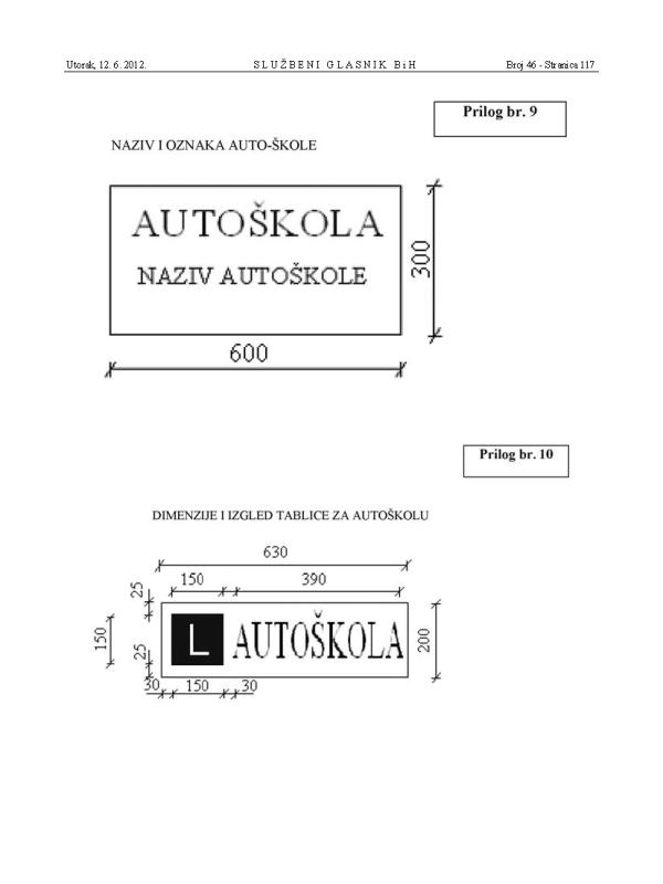 2 Pravilnik o osposobljavanju za vozaca motornih vozila SGBiH 46-12